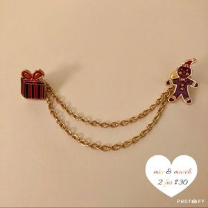 Cute Double Christmas Brooch